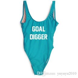 a309f1a6a1ef GOAL DIGGER Beachwear Women Sexy Bodysuits Swimsuit Fashion Clothing Jumpsuit  Rompers One Piece suits Bathing suit Swimwear ywxk