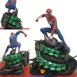 Toy Man Women NZ - Anime The Avengers Statue Model Ps4 Game Spider Man Scenes Boxed Toy Men And Women Fashion Gift 98tc I1