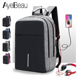 $enCountryForm.capitalKeyWord Australia - Anti Theft Laptop Usb Anti-theft Smart Man Backpack Male Antitheft Charging For Teenager School Bag Schoolbag Bagpack Back Pack Y19061102