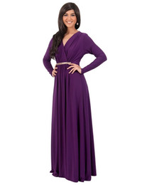 China Plus size dress Hot Selling long Sleeve wrap maxi evening dress for fat women floor length Beading deep V neck Party Dress suppliers