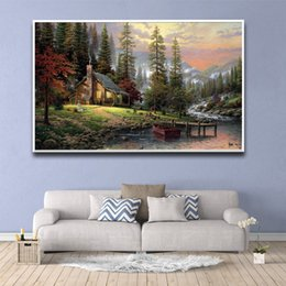 Mirrors for bathrooM walls online shopping - Hot Forest Scenery In Front Of The Door Pictures For Home Design Painting Wall Picture Bathroom Decor Home Decor