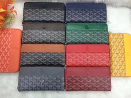 Color Leather Bags Australia - Designer Long Wallets Fashion Leather Coin Purse Solid Color Zipper Wallets Bags Unisex Pattern Letter Luxury Wallet Messenger Bags