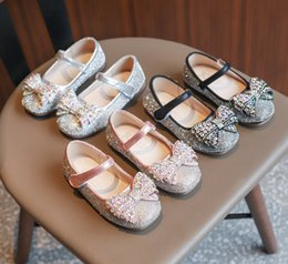 $enCountryForm.capitalKeyWord NZ - Shining Girls rhinestones princess shoes kids Bows flat single shoes children birthday party dance shoe 2019 fall new kids shoes F9434