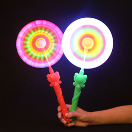 Wholesale Lighting Toys Australia - 1pc Led Light Toys 2018 Windmills Flashing Light Up Led And Music Rainbow Spinning Lights Toy For Children