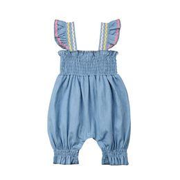 $enCountryForm.capitalKeyWord Australia - Summer 2019 Infant Newborn Baby Girls Clothing Ruffles Baby Girls Romper Jumpsuit Striped Bloomers Baby Girls