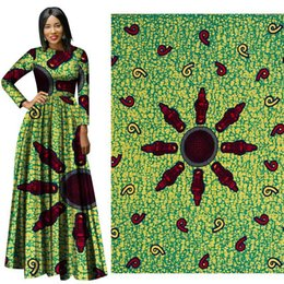 Good Quality Dress Fabric Australia - ankara african wax print fabric Good-Fabric Binta Real Wax High Quality African Fabric For Party Dress