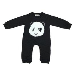 $enCountryForm.capitalKeyWord NZ - 2019 Baby Clothes Black Cool Rompers Newborn Boy Girl Clothing Set Toddler Suit Long Sleeve Outfits Cartoon Panda Pattern
