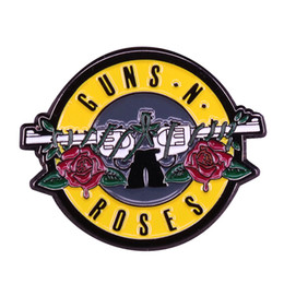 $enCountryForm.capitalKeyWord Australia - Guns N' Roses rock band enamel pin beautiful hippie vibes accessory