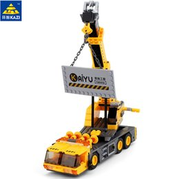 kazi blocks Australia - Kazi 380pcs City Crane Series Building Blocks Diy Model Block Educational Toys Learning Education Bricks Child GiftsMX190820