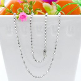 Chains Mm Australia - 200 pcs lot,Electroplate Non-fading Necklaces DIY Bead chain Safety without stimulation Shining 3 colors Pendant Chain Model 60 cm*2.2 mm