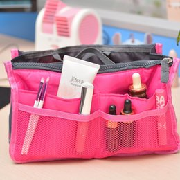 cheap zipper pouches NZ - MoneRffi Insert Bag Women Nylon Travel Insert Pouch Handbag Purse Large Capacity Lady Makeup Cosmetic Bag Cheap Female Tote