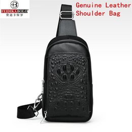 75f7c027967b Wholesale brand men handbag exquisite embossed crocodile pattern men messenger  bag business leather fashion shoulder Baotou layer leather ch