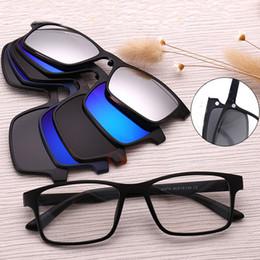 b6fcc3260b1 5pcs set Sunglasses Women Men Polarized Magnetic Clip Glasses Driving Clip  On Sunglasses Magnet Myopia Glasses Frame