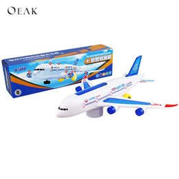 Toys Airplane Australia - Oeak Cool Electric Kids DIY Toy Airplane With Attractive Lights And Sounds Child Music Toys Plane Boys Best Birthday Gifts
