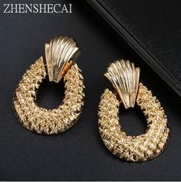 $enCountryForm.capitalKeyWord Australia - Fashion Earrings for women gold color big statement earrings simple design geometric punk ear jewelry gift hot sale