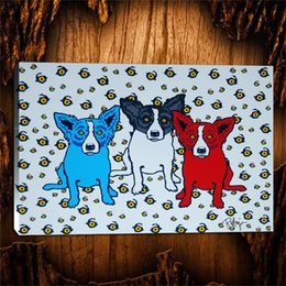 Spray Can Painting Australia - Blue Dog Oh Say Can You See -1,1 Pieces Canvas Prints Wall Art Oil Painting Home Decor (Unframed Framed) 24X36.
