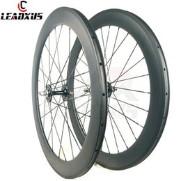 $enCountryForm.capitalKeyWord Australia - LEADXUS Full Carbon Fiber 60MM Clincher Tubular Roue Velo Fixie Bicycle Wheel Fixed Gear 700C Carbon Track Bike Wheels