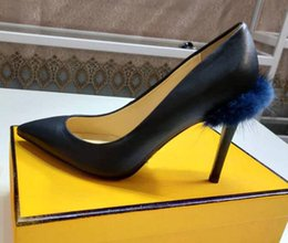 $enCountryForm.capitalKeyWord Australia - New Arrival FD Womens High Heel 9.5CM Pumps Pointed Toes Party Wedding Mink Hair 100% Real Leather Slip On Dress Roma Shoes