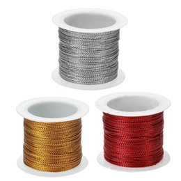 $enCountryForm.capitalKeyWord Australia - Polyester Fiber Cord Thread String DIY Rope Bead Tag For Necklace Bracelet Making Clothes Decoration Gold Silver Red Color