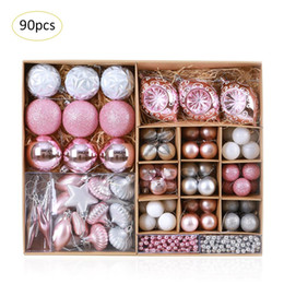 christmas ornament crafts NZ - Hot 90 Pcs Set Christmas Ball Assorted Ornament Tree Hanging Pendants Christmas Decorations Home Hanging Crafts Party Supplies