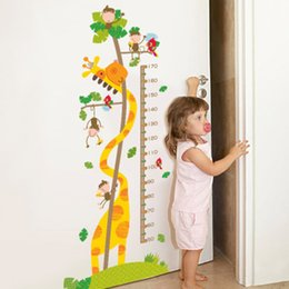 $enCountryForm.capitalKeyWord Australia - Cartoon Monkey Giraffe Height Ruler Wall Stickers Kids Room Nursery Growth Chart Wall Decals Height Measurement Wall Mural Art