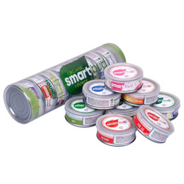$enCountryForm.capitalKeyWord Australia - Hot SmartBud Machine Sealed Tin Cans 3.5 gram Smart bud jar tank dry herb flower Packaging with 15 Flavor Stickers Lables