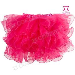 Red White Blue Tutus Australia - 3771 sexy tutu skirts women ruffles corset skirt pink blue green purple black white for U pick new free shipping