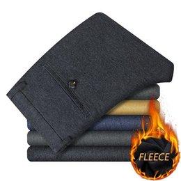 $enCountryForm.capitalKeyWord Australia - Lenstid Nice Winter New Warm Thick Fleece Casual Soft Pants Men Slim Chinos Fashion Trousers Male Brand Clothing High Quality