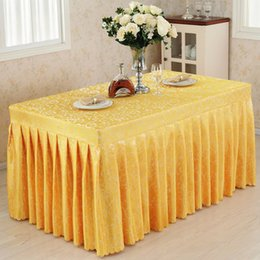$enCountryForm.capitalKeyWord Australia - Conference tablecloths Cold table skirts show activities desk cover multi - color hook flower tablecloth 60Wx120Dx75H cm