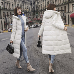 Down parka 5xl online shopping - M XL New Winter Jacket Female Parka Coat Feminina Long Down Jacket Plus Size Long Hooded Duck Down Coat Women