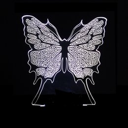 Saving Card Australia - 3d Small Led Colorful Butterfly Lamp Three-dimensional Three-dimensional Vision Energy-saving Eyeshield Gift Second Gram Force Desk Lamp