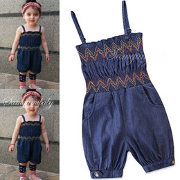 4683d294cd Ins baby girl clothes Summer 2019 cute jean Baby Rompers Girls One Piece Clothing  Newborn Jumpsuit Bodysuits Baby Onesies Rompers A1755