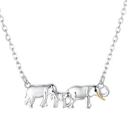 EmErald finE jEwElry online shopping - Strollgirl Sterling Silver Lovely Elephants Necklace For Women Fine Jewelry Mother s Day Gift T190620