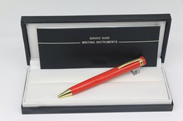 Pen Brands Australia - Great Inherit 1912 Collection Pens Red Ballpoint pen with Gold Trim Stationery office school supplies with MB Brands write Ball pen