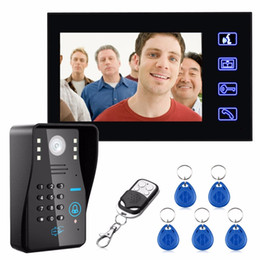 $enCountryForm.capitalKeyWord Australia - 7 inch Color HD Touch Screen Wired RFID Password Video Door Phone Doorbell With IR Camera 200M Remote Control System Intercom