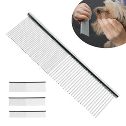 $enCountryForm.capitalKeyWord Australia - S M L Pet Double Row Comb Stainless SteelLice Rake For Puppy Dog Cat Long Hair Shedding Grooming Brush p