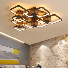 Coffee bedroom online shopping - New Coffee Finished Modern led Ceiling Lights For Living Room Bedroom Study Room Home Deco V Ceiling Lamp Fixtures