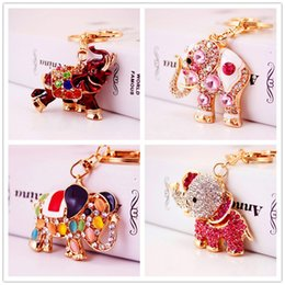 fashion high heels for girls 2019 - Boho Multicolor Elephant Handbag Key Chains for Women Girls Fashion Shiny Statement High-heeled Shoes Keychain Bag Acces