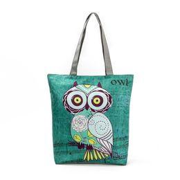 $enCountryForm.capitalKeyWord UK - good quality Cute Owl Printed Women's Casual Tote Large Capacity Canvas Female Shopping Bag Ladies Shoulder Handbag Beach Bag