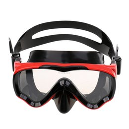 $enCountryForm.capitalKeyWord NZ - Adult Silicone Snorkeling Scuba Dive Diving Mask 2019 Tempered Glass Lenses Underwater Swim Swimming Goggles Red Black