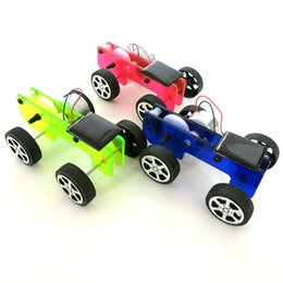 solar powered gadgets gifts UK - Solar Powered Toy 1 Set Mini Solar Powered Toy DIY Car Kit Children Educational Gadget Hobby Funny Solar Toys Gift For Kids