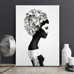 $enCountryForm.capitalKeyWord Australia - 1 Piece Black Girl Wall Art Canvas Painting Posters and Prints Canvas Art Print Wall Pictures For Living Room Nordic Poster No Framed