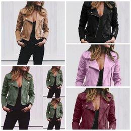 $enCountryForm.capitalKeyWord Australia - Womens Woollen Cloth Short Coat Lapel Collar Long Sleeves Slant Zipper Jacket Top Retro Autumn Spring outdoors Clothing 33ql E1