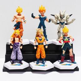 Super Buu Figure Australia - Anime Dragon Ball Z Super Saiyan Goku Vegeta Gotenks Buu Pvc Action Figure Toys 6Pcs  Set 12Cm Approx Free Shipping