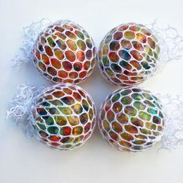 $enCountryForm.capitalKeyWord Australia - Anti Stress Mesh Grape Ball 6CM Latex Colorful Anti Stress Relief Ball Autism Mood Relief Hand Wrist Squeeze Toy for Big Kid