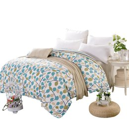 China New Soft and comfort 100% Cotton Free shipping Plant Flowers Quilt cover Duvet cover 160 180 200 220cm Twin Full Queen King Size cheap light purple duvet cover suppliers
