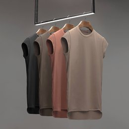 $enCountryForm.capitalKeyWord NZ - 2018 Brand Mens Sleeveless T Shirts Summer Cotton Male Gyms Clothing Bodybuilding Undershirt Fitness Tank Q190430