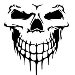 $enCountryForm.capitalKeyWord UK - 16*14.6cm Car Truck Tailgate Window Skull Hood Decal Vinyl Large Graphic Sticker Black A Pair Handsome And Cool Stickers