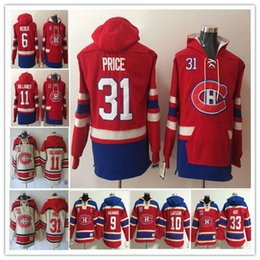 hockey hoodies montreal UK - Wholesale 2020 Montreal Canadiens Stitched Maur Richard Patrick Roy Guy Lafleur Brendan Gallagher Shea Weber Carey Price Hoodie Jersey