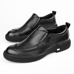 $enCountryForm.capitalKeyWord Australia - Lace-Up Dress Casual Shoes men Korean version Genuine Leather Business mens shoes British retro men all-match cowhide